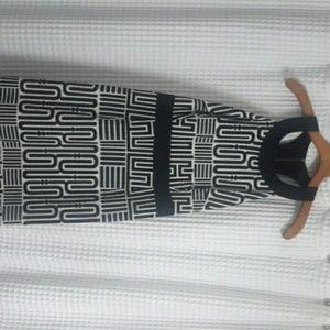 LAUNDRY COTTON BLACK & WHITE DRESS